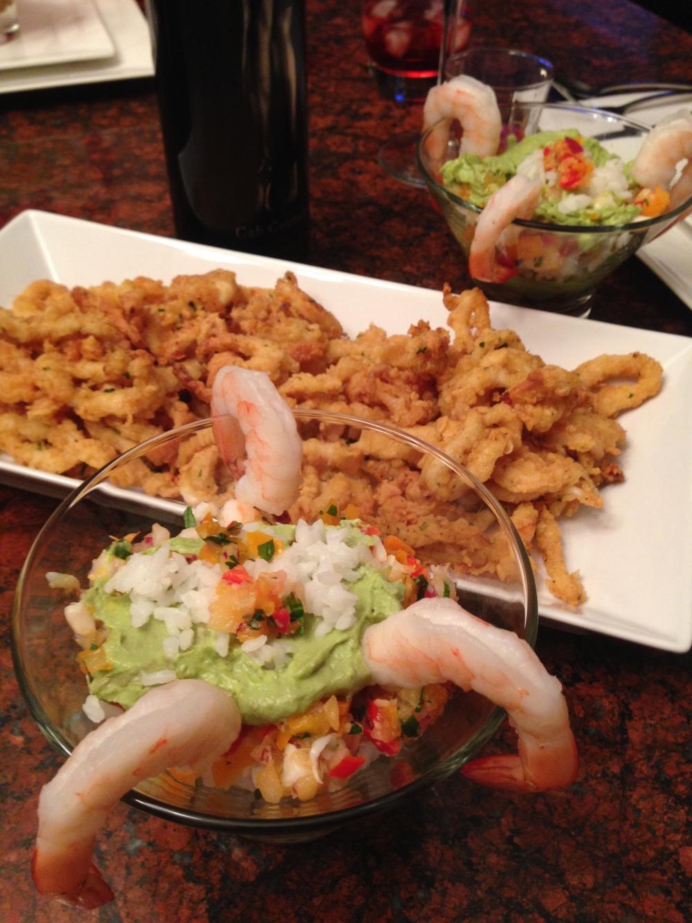 Calamari & Sushi cups